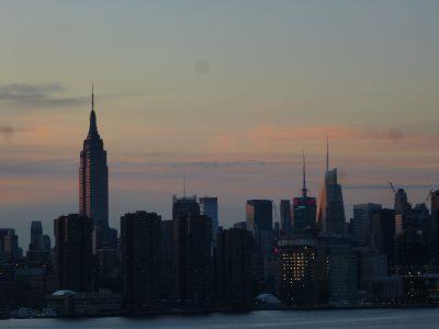 New York, chicche: vista al tramonto da Williamsburg, Brooklyn