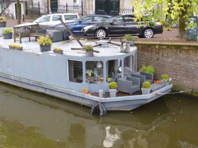 Amsterdam, dettaglio di una casa galleggiante