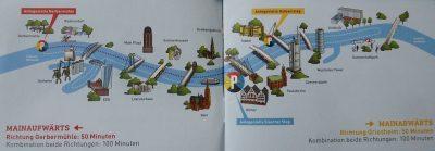 Weekend a Francoforte: il percorso del tour in battello di 100 minuti della Primus Linie