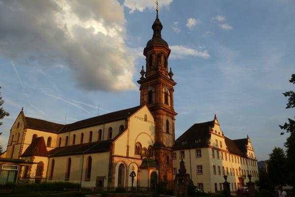 Tramonto a Gengenbach, Germania
