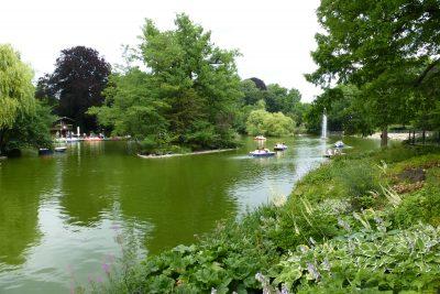 Weekend a Francoforte: il laghetto all'interno del Palmengarten