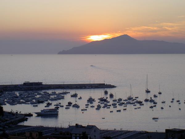 Tramonto a Sestri Levante, Baia del Silenzio, Italia