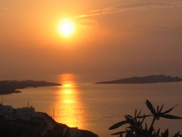 Tramonto a Mykonos, Grecia